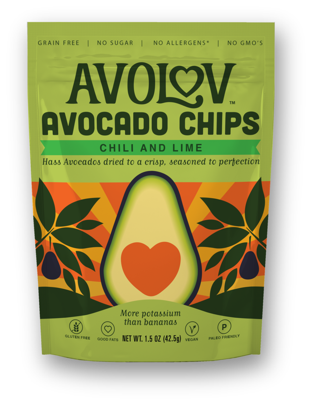 Chili and Lime Avocado Chips