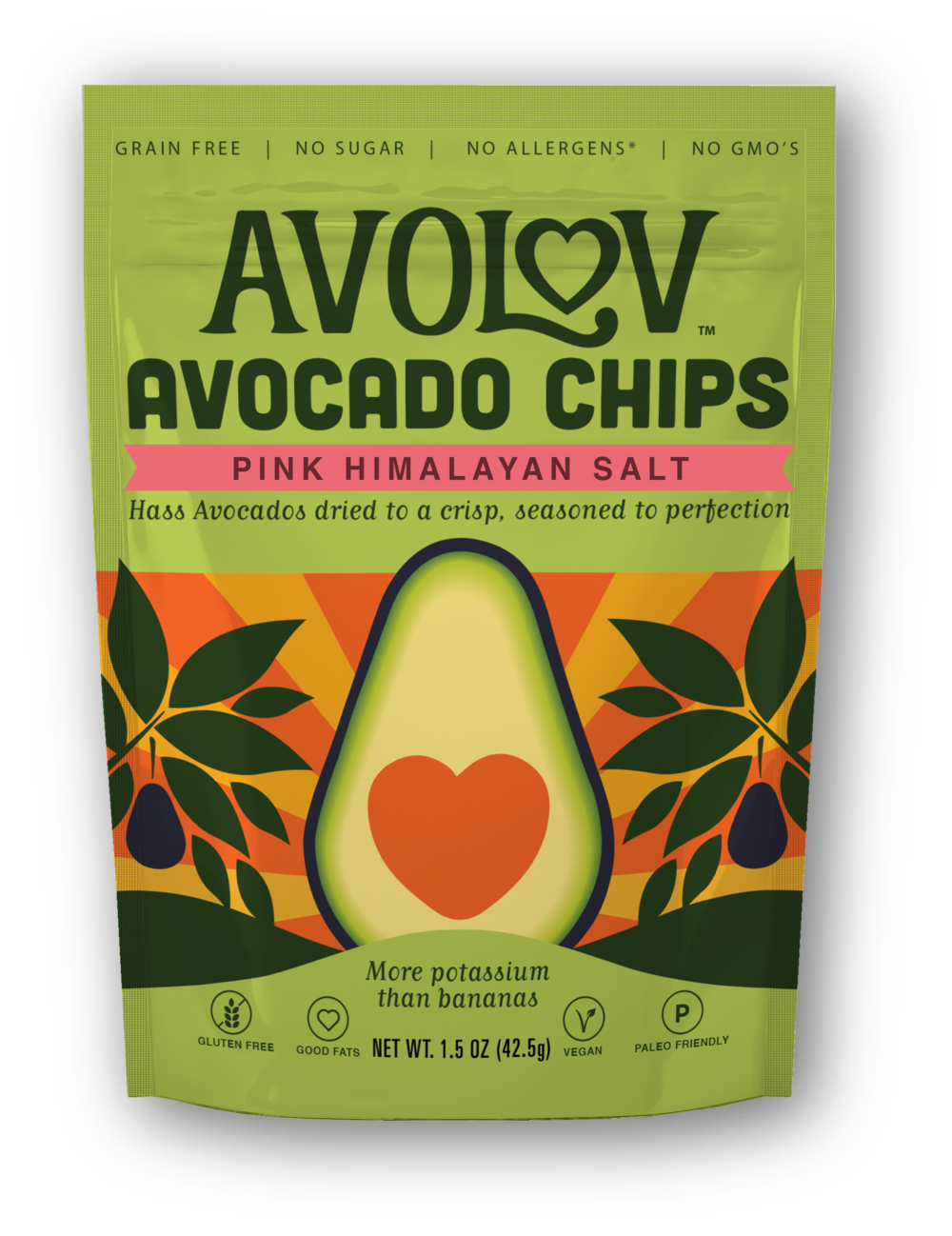 Pink Himalayan Salt Avocado Chips