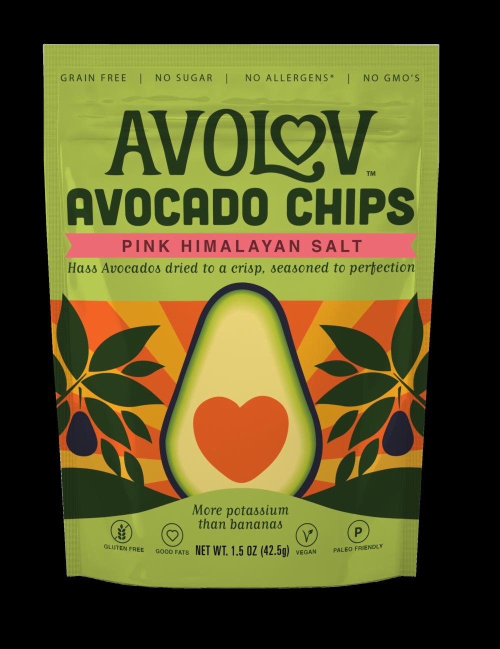 Pink Himalayan Salt Avocado Chips