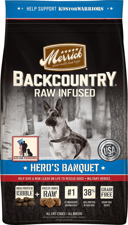 Merrick Backcountry Raw Infused Hero S Banquet Recipe Grain Free Dog Food Pet Nirvana