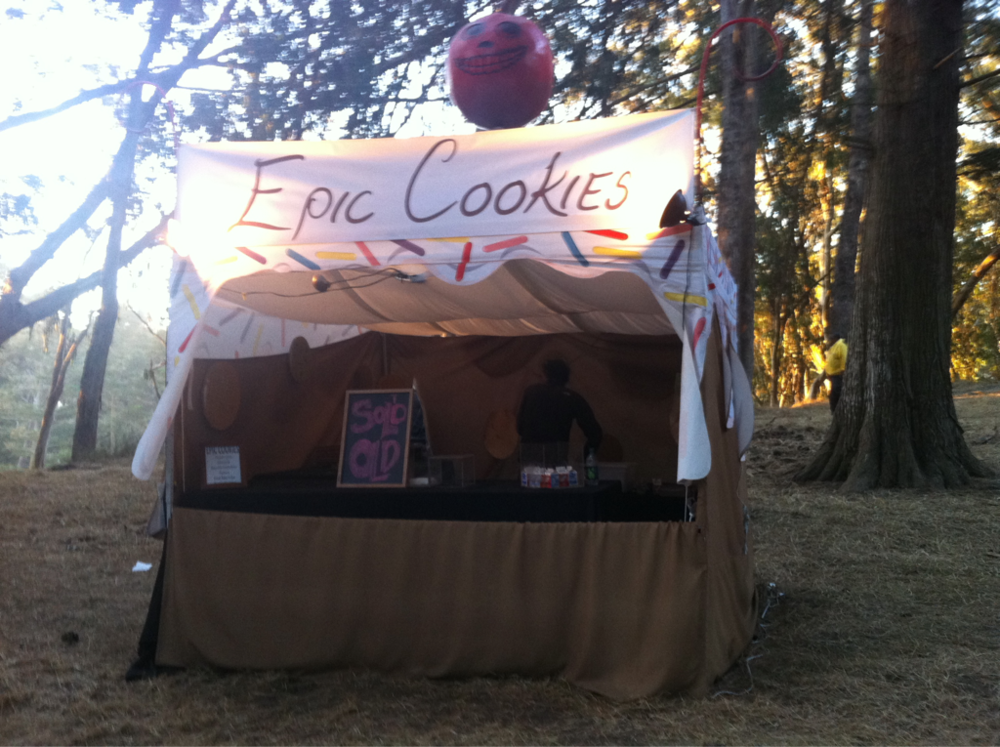 epic cookies at Outside Lands Festival in candyland … yummiest and most magical place in SF.