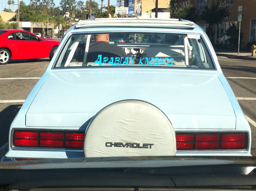 Most annoying car in LA to be stuck driving behind. Riding this low is not gangsta.