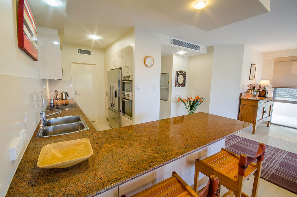 Fully appointed kitchen, Apartment One | Ming Apartments, Kingscliff NSW Australia