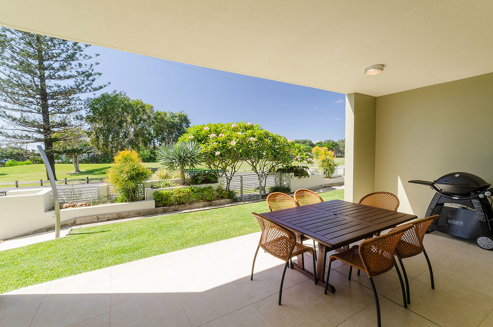 Large terrace, Apartment One | Ming Apartments, Kingscliff NSW Australia