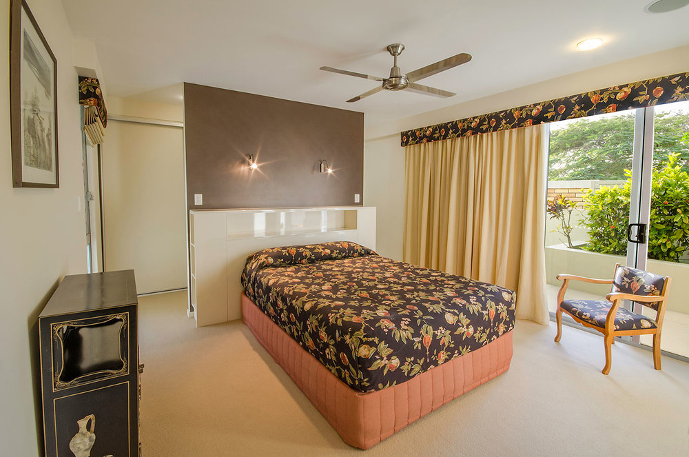 Master bedroom, Apartment One | Ming Apartments, Kingscliff NSW Australia