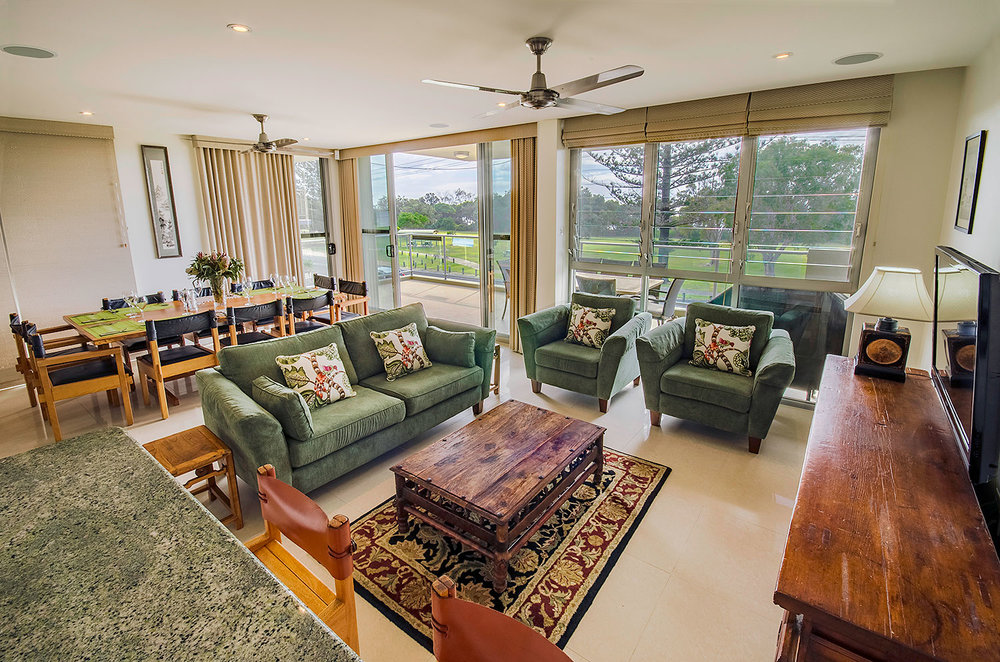 Luxury living lounge, Apartment Three   Ming Apartments, Kingscliff NSW Australia