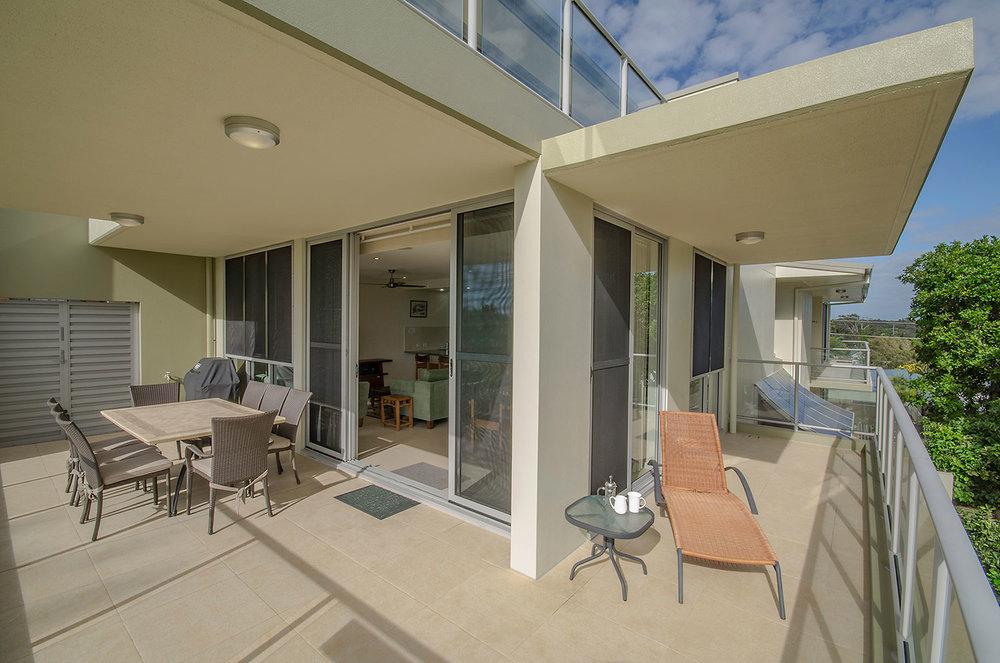 Large balcony , Apartment Three   Ming Apartments, Kingscliff NSW Australia