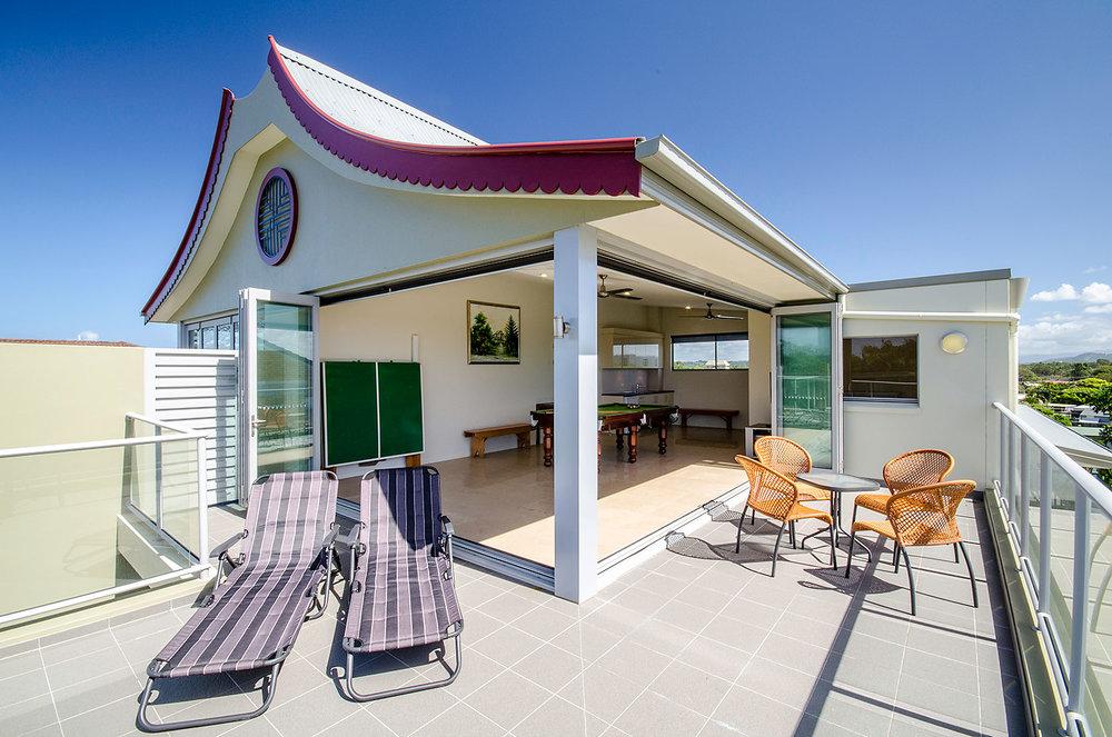 Rooftop Entertainment Area, Ming Apartments, Kingscliff NSW Australia