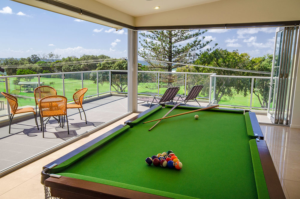 Apartment with Billiard table, Rooftop Entertainment Area, Ming Apartments, Kingscliff NSW Australia