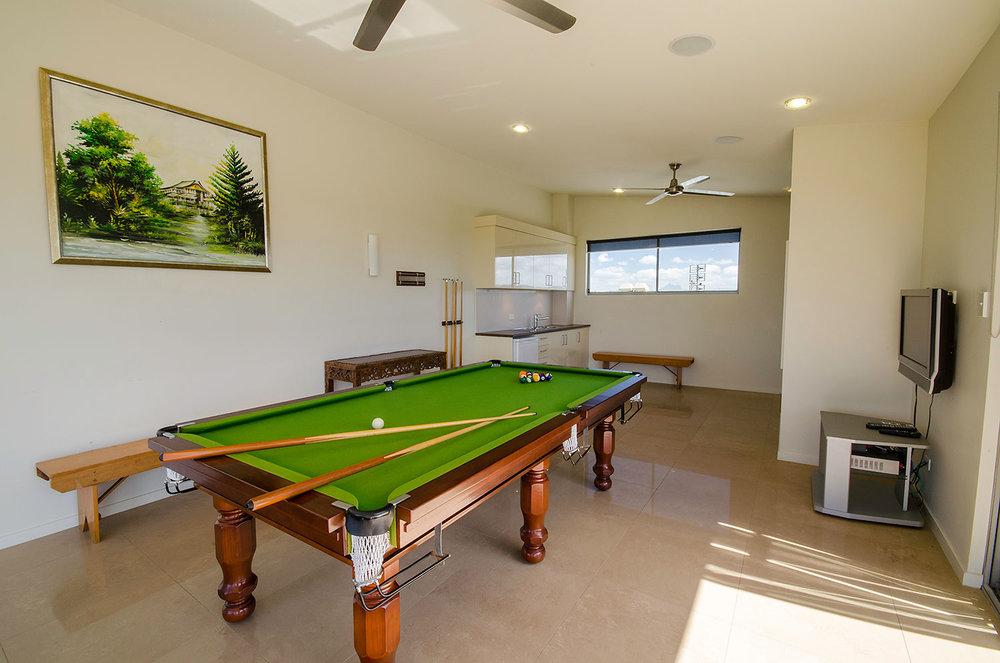 Group entertainment, Rooftop Entertainment Area, Ming Apartments, Kingscliff NSW Australia