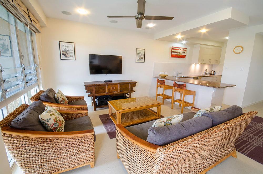 Lounge/Kitchen, Apartment One | Ming Apartments, Kingscliff NSW Australia