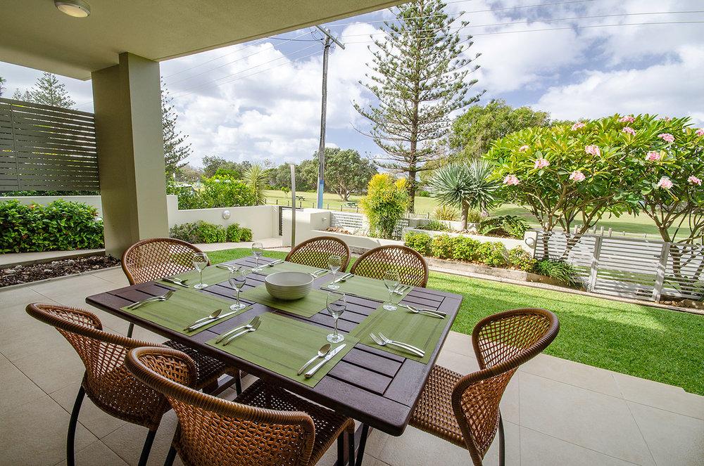 Garden Terrace, Apartment One | Ming Apartments, Kingscliff NSW Australia
