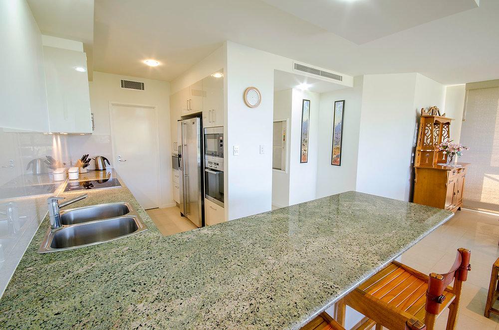 Chef's kitchen, Apartment Three | Ming Apartments, Kingscliff NSW Australia
