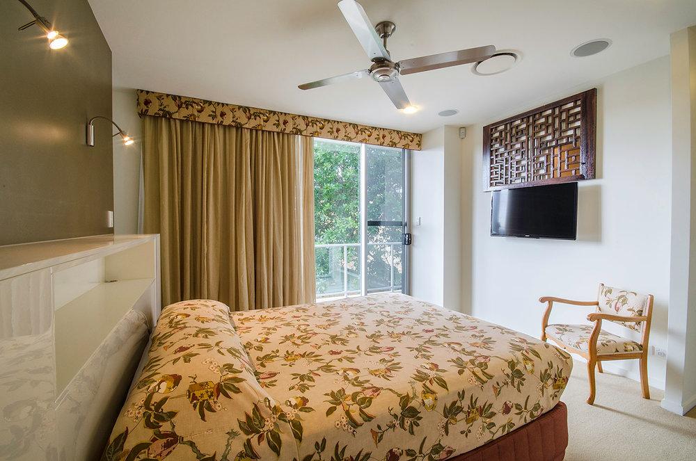 Master bedroom, Apartment Three | Ming Apartments, Kingscliff NSW Australia