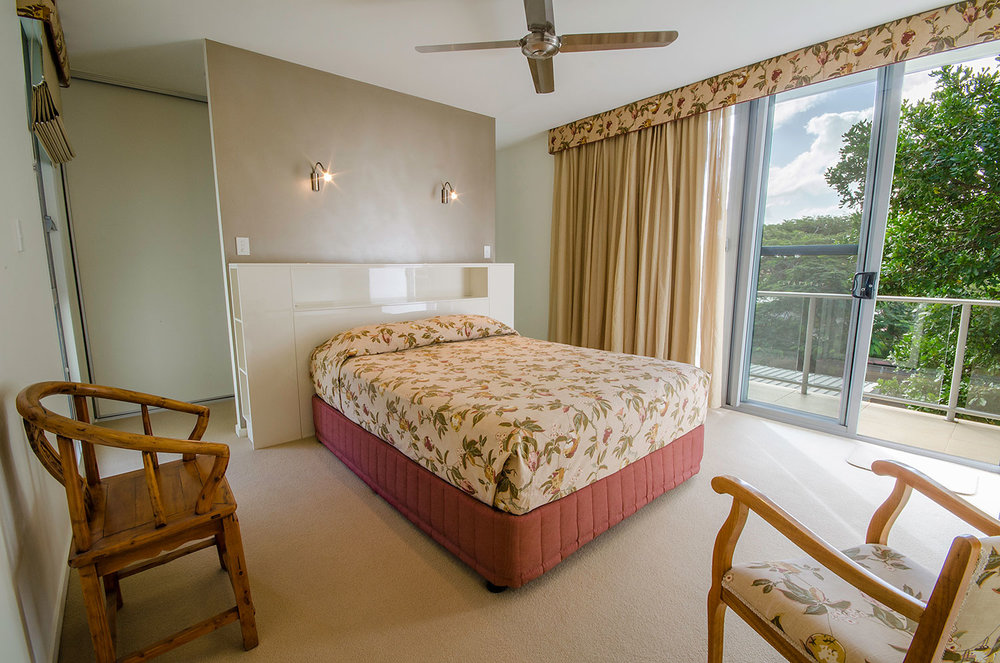 Master bedroom with balcony, Apartment Three | Ming Apartments, Kingscliff NSW Australia