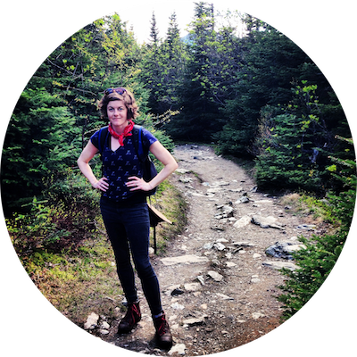 Here's me, hiking in the woods of Vermont. I'm really into nature.