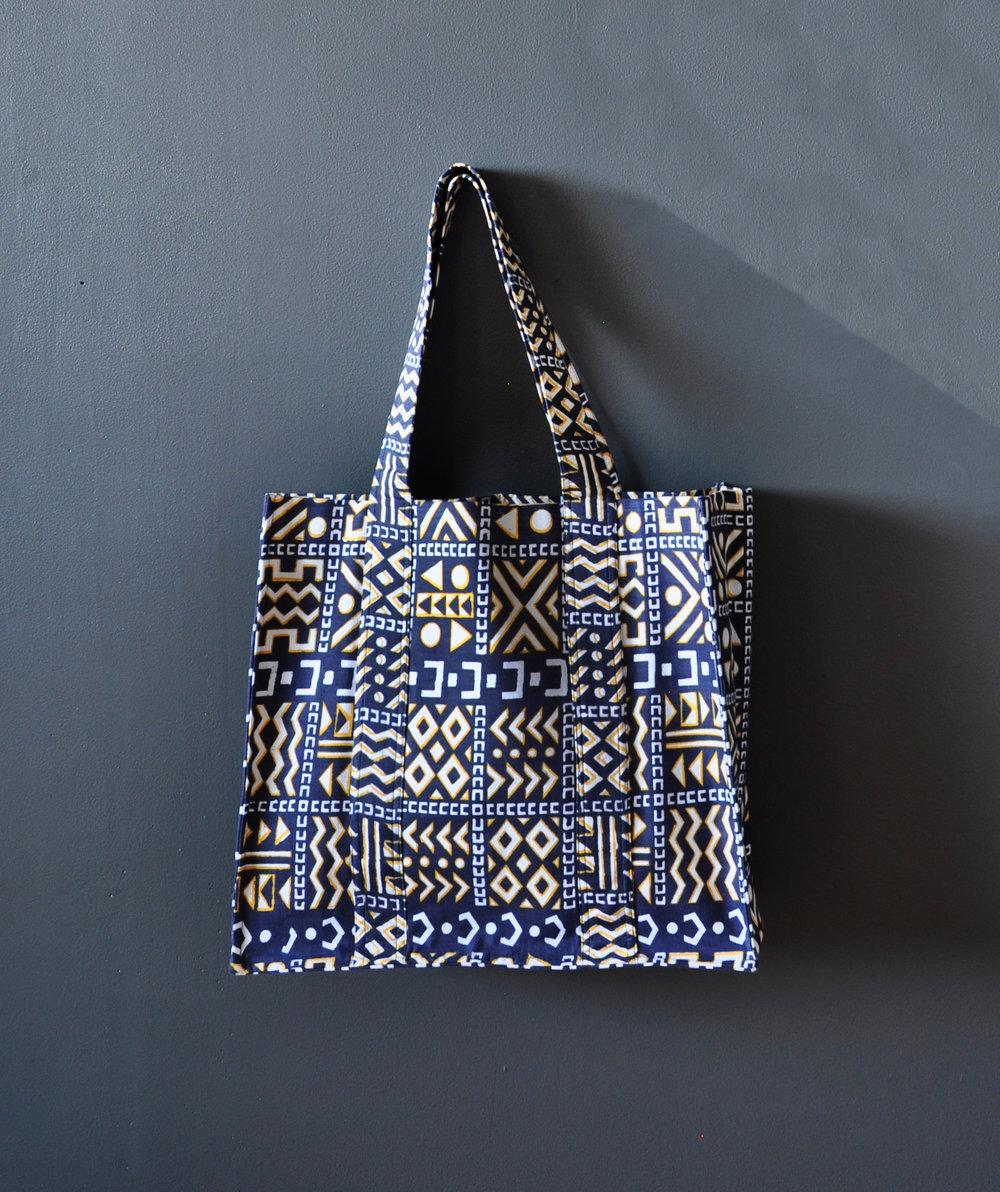 Kente Print Large Tote Bag 3