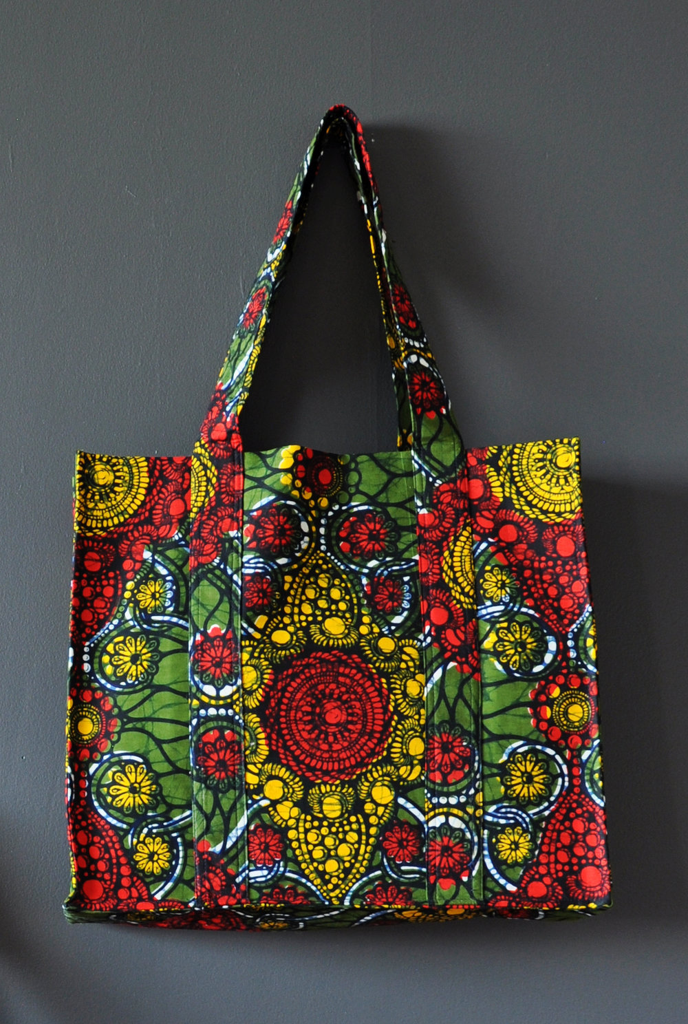 Kente Print Large Tote Bag 4