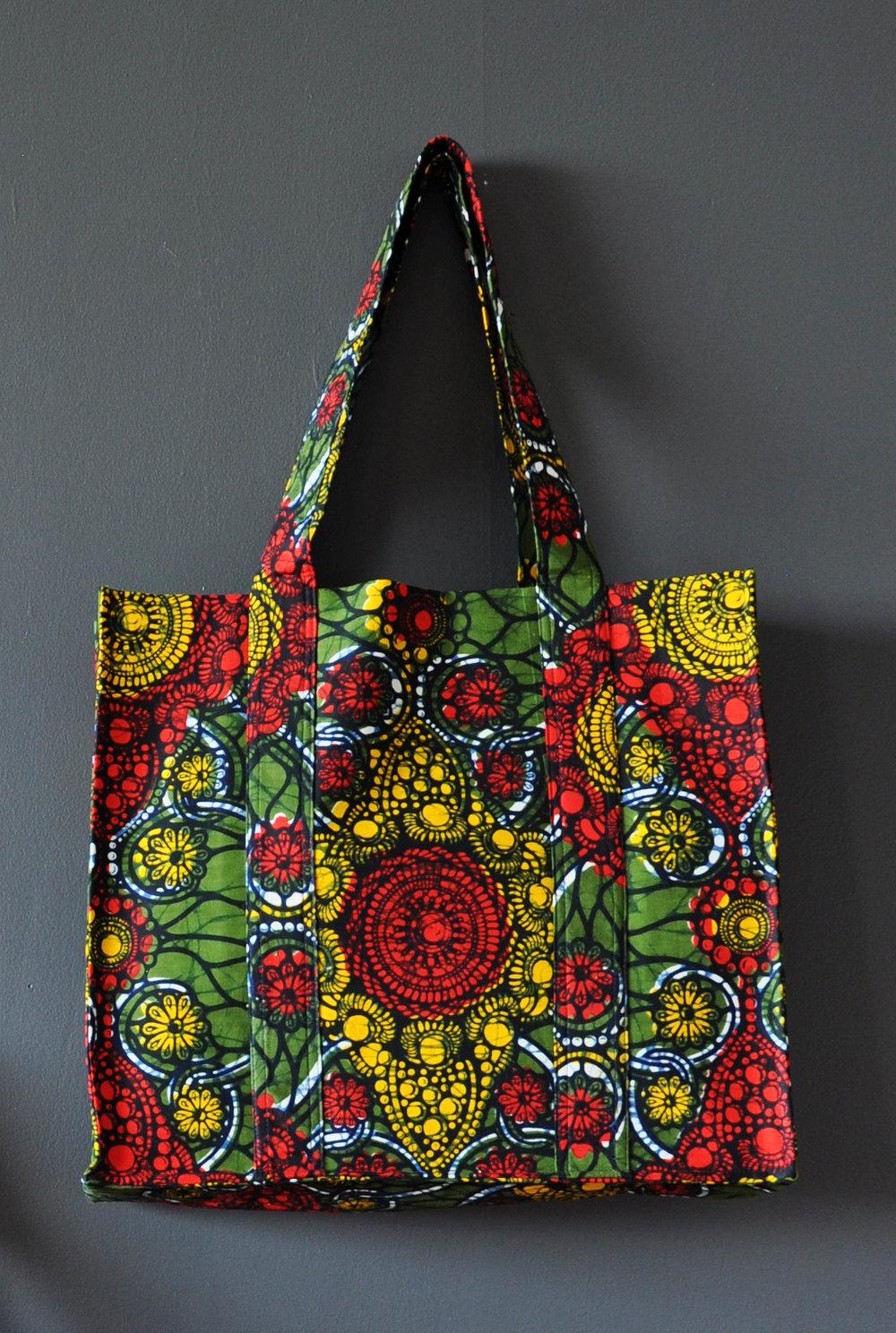 Kente Print Large Tote Bag 4