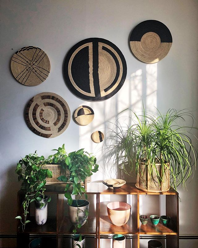 After a busy design week at @ny_now and @shoppeobject we were feeling inspired to revamp one of the walls in our Green Loft in anticipation for spring 🌱 Our favorite looks always happen when we mix our beloved small designers with easier to find pieces. How good do our @kazigoods baskets go with these new #project62 @target cane baskets?