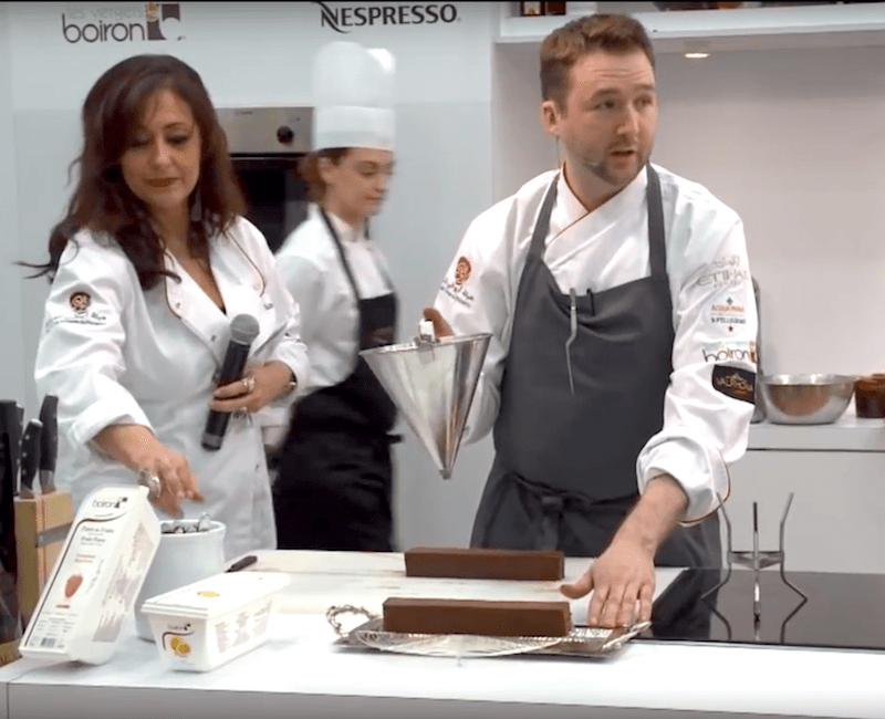 Shawn leading a pastry masterclass in Abu Dhabi