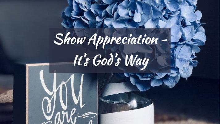 show appreciation God's way @www.Relavate.org