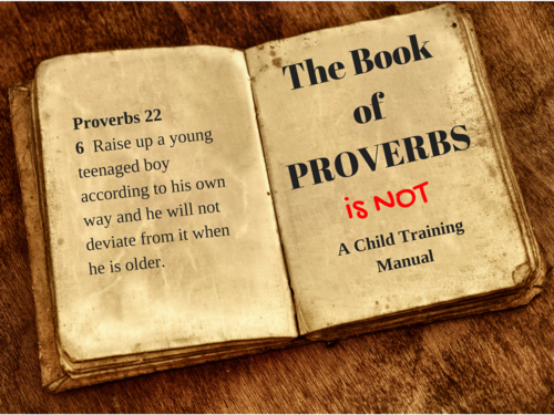 Proverbs is not a discipline manual @www.Relavate.org