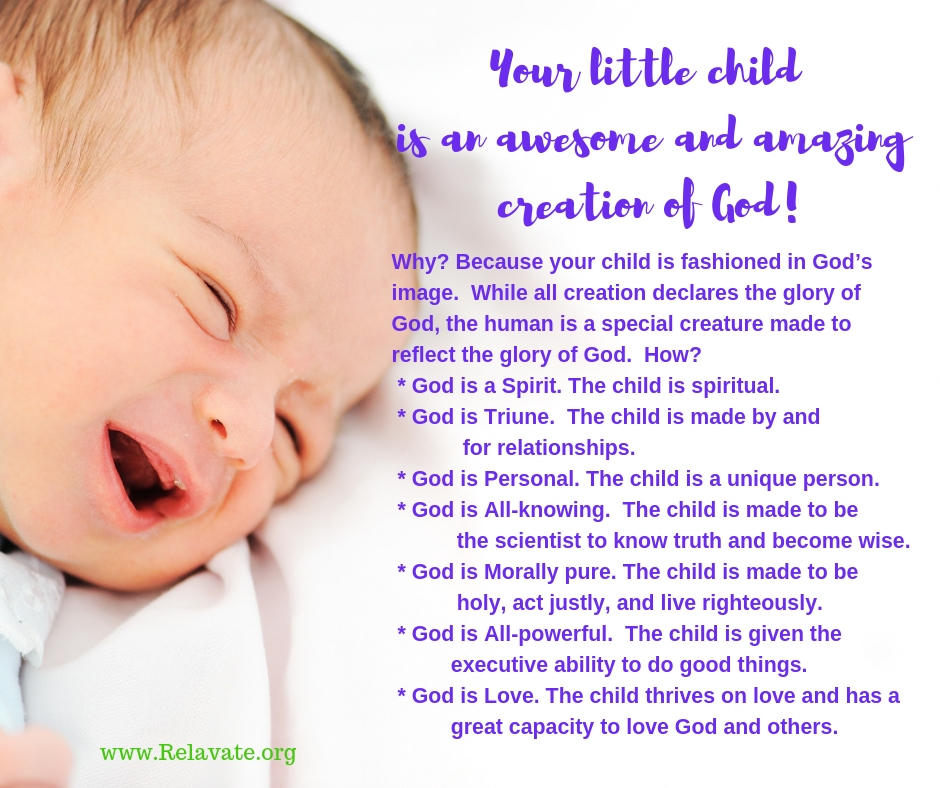 Your child is made  in God's image@www.Relavate.org