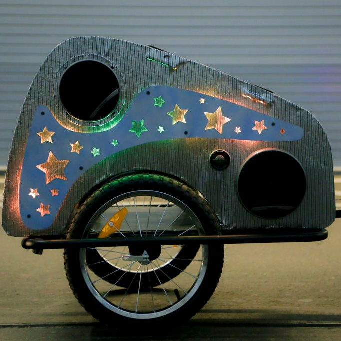 Solar Powered Bike Party Trailer  designed for Radioshack
