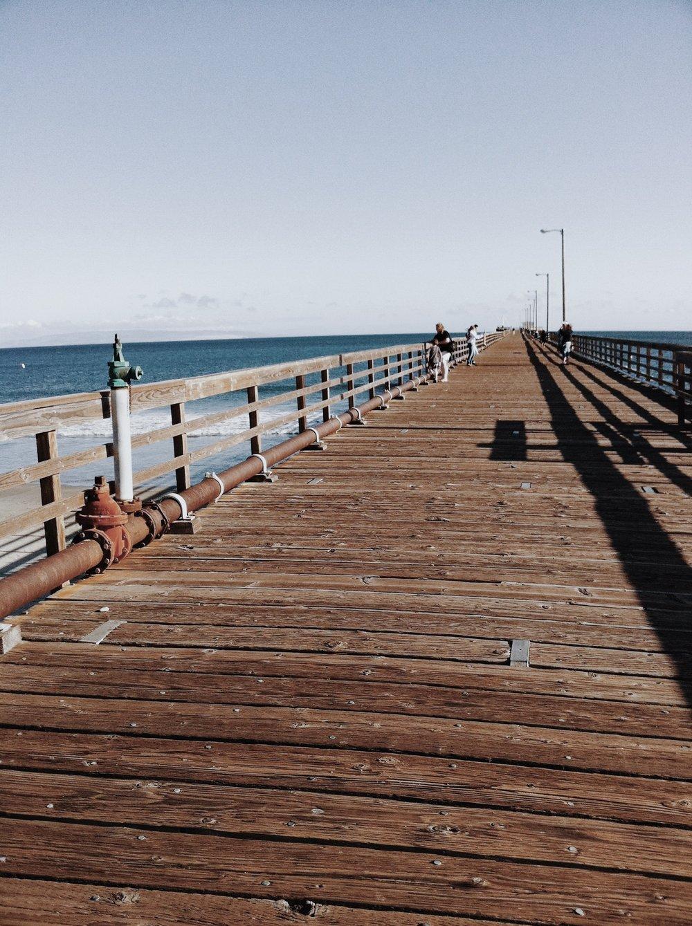 Enjoy a walk in the sand or on the pier at Avila Beach.