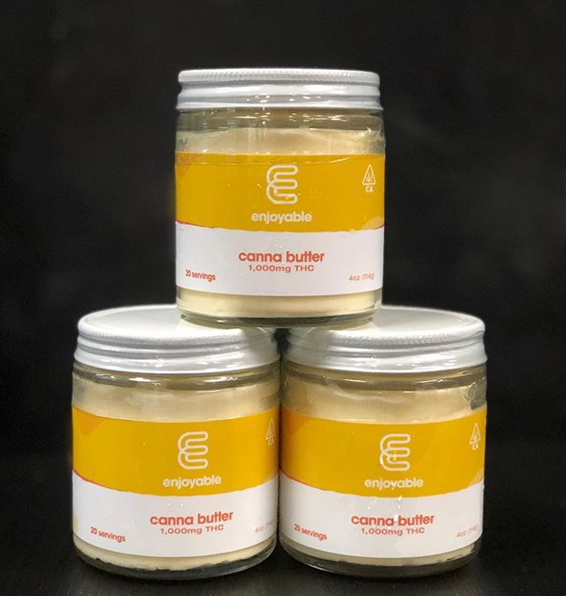 You guys asked for it... and it's FINALLY in!! 1000mg Canna Butter @enjoyableedibles  Perfect for cooking your favorite edibles right at home😮🤤