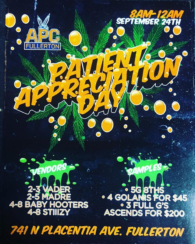 PAD ALERT🚨  Swoop on by the 24th of September for our appreciation day including YOUR favorite brands @stiiizy @vaderextracts @madre420 @baby_hooter