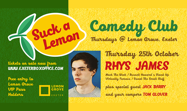 Rhys James - 25 October