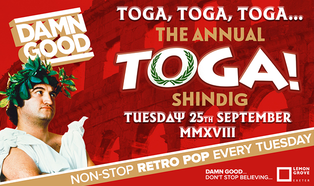 Copy of DAMN GOOD'S... ANNUAL TOGA PARTY SHINDIG! - 25 September