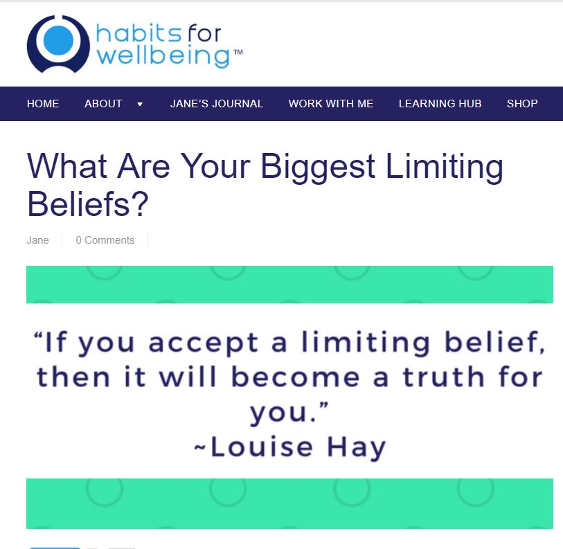 "A brilliant article on the most common limiting beliefs and how, if left unchallenged can turn into reality, stopping us from getting what we want from life.  Coaching is a great way to address limiting beliefs so that you can get what you want from life.  I also love the Gandhi quote which captures this perfectly:  ""Man often becomes what he believes himself to be. If I keep telling myself that I cannot do a certain thing, I may end up by really being incapable of doing it""."