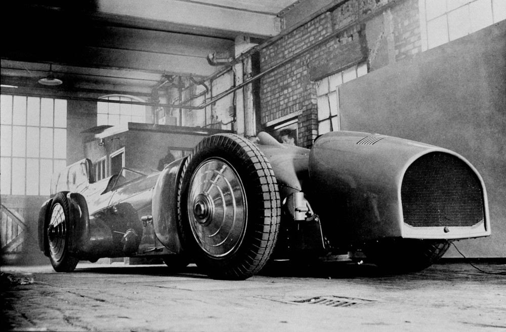 Malcolm Campbell's Land Speed Record breaker Bluebird, pictured in 1930