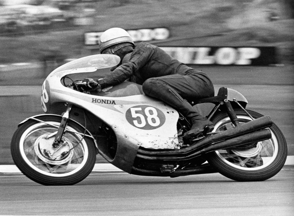 Mike Hailwood, winner of the 250cc and 350cc World Championships, 1967