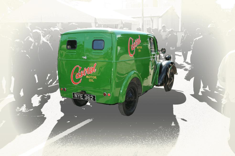 Vintage Castrol delivery van