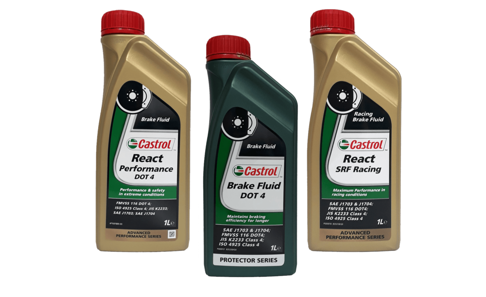 Selection of Castrol brake fluids