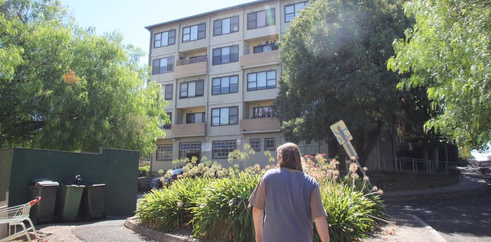 Will Gwynne walks through one of the nine Melbourne estates that is being sold in the public housing 'renewal' program.