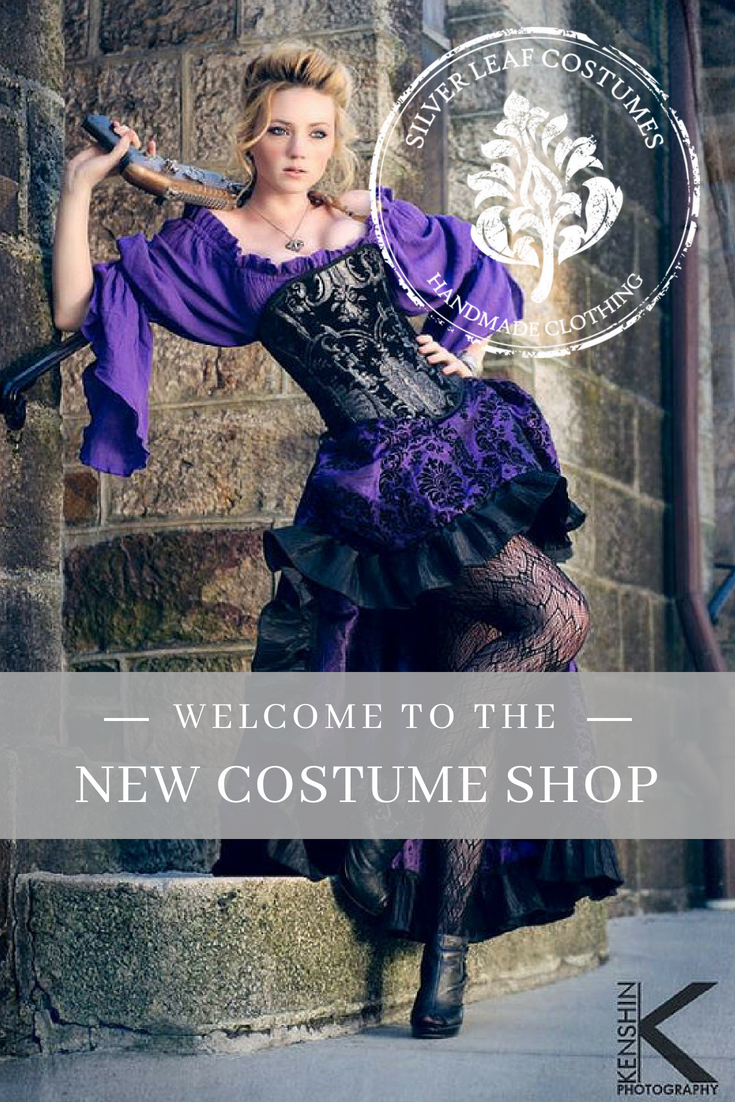 We build historical and fantasy costumes, helping you become a posh Victorian lady in a real, steel-boned corset or a Steampunk Superhero with class and panache. Find Your Perfect Look In Our NEW Shop —> #costume #cosplay #steampunk