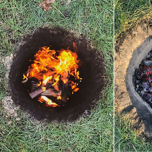 "#tbt to two weeks ago when we had our bi-annual Handpicked labs / bbq experiment. Inspired by @jordalthuizen ""Barbacoa de Cordero"" we made Lamb Fajitas from a soil oven.  #kickass #backyardbbq #fire #hole #bbq"