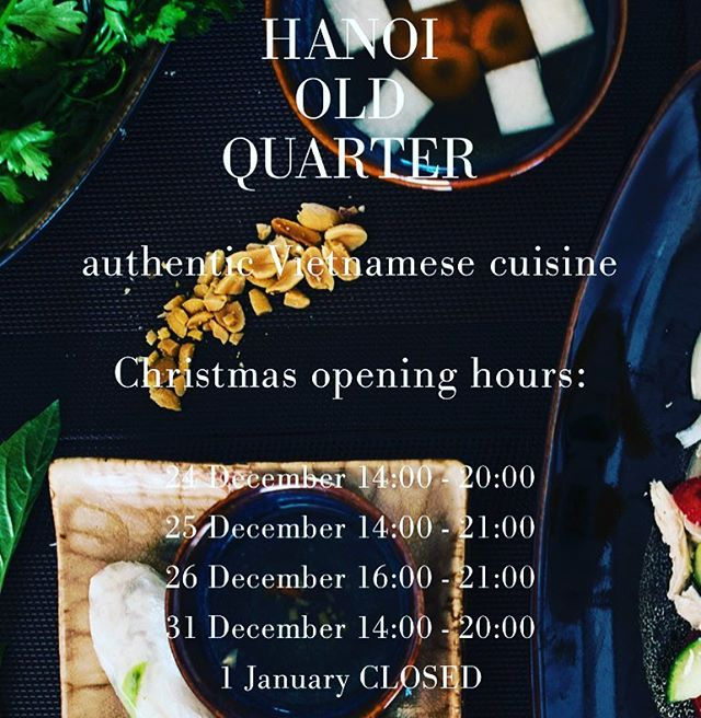 Yes ... we are open on Christmas even !  #hanoi #pho #vietnamesefood #authentic #asianfood #spicy #amsterdam #amsterdamfood #healthyfood #foodporn #foodlover #lovefood #vietnamesecuisine #foodblogger #foodmagazine #freshfood #rice #homemade #homecooking #amsterdamfood #amsterdamcity #amsterdamcity#dinner #restaurant #dining #