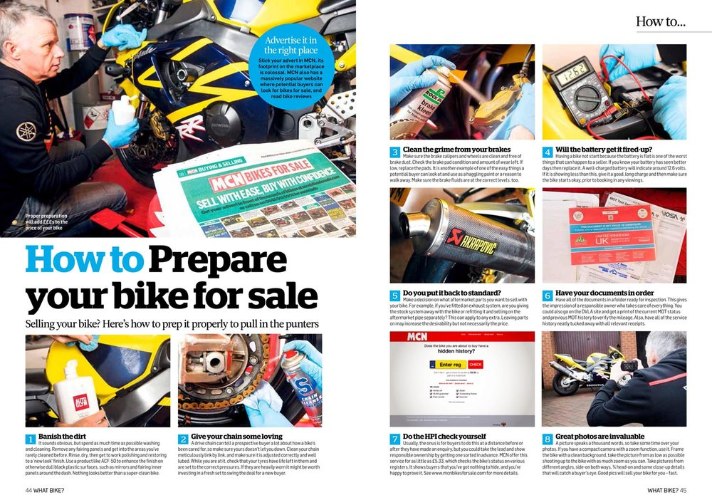How to prep your bike for sale