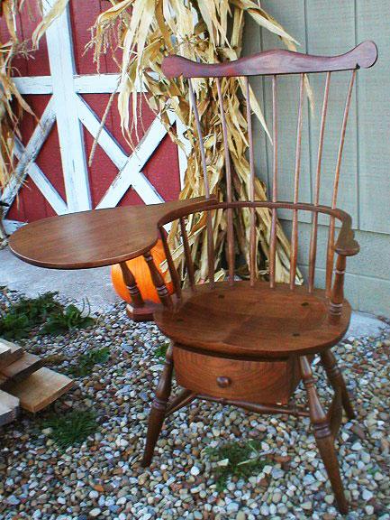 Black Walnut Writing Chair