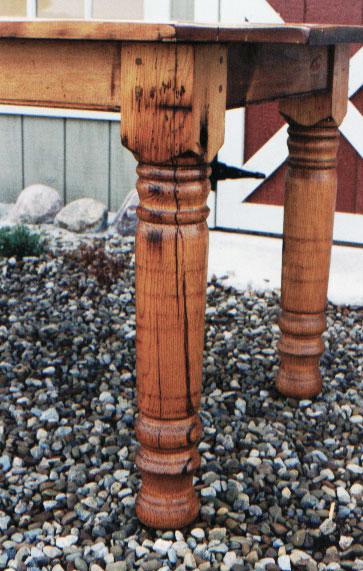 Reclaimed Pine Turned Legs