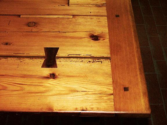 Reclaimed Pine Detail