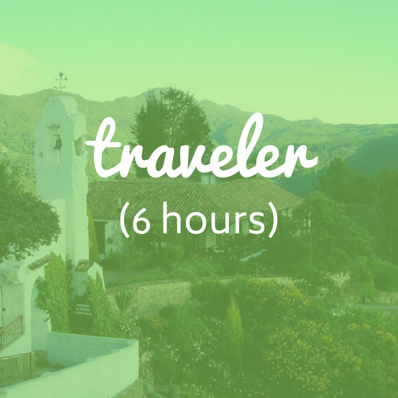 Traveler: Fits up to 5 experiences   ● US$ 154 for 1 to 3 travelers  ● US$ 230 for 4 to 6 travelers  ● US$ 333 for 7 to 12 travelers