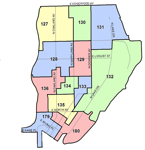 East Side Ward Map - We will be canvassing and phone banking in the following Milwaukee election wards: 127-136 and 179-180.
