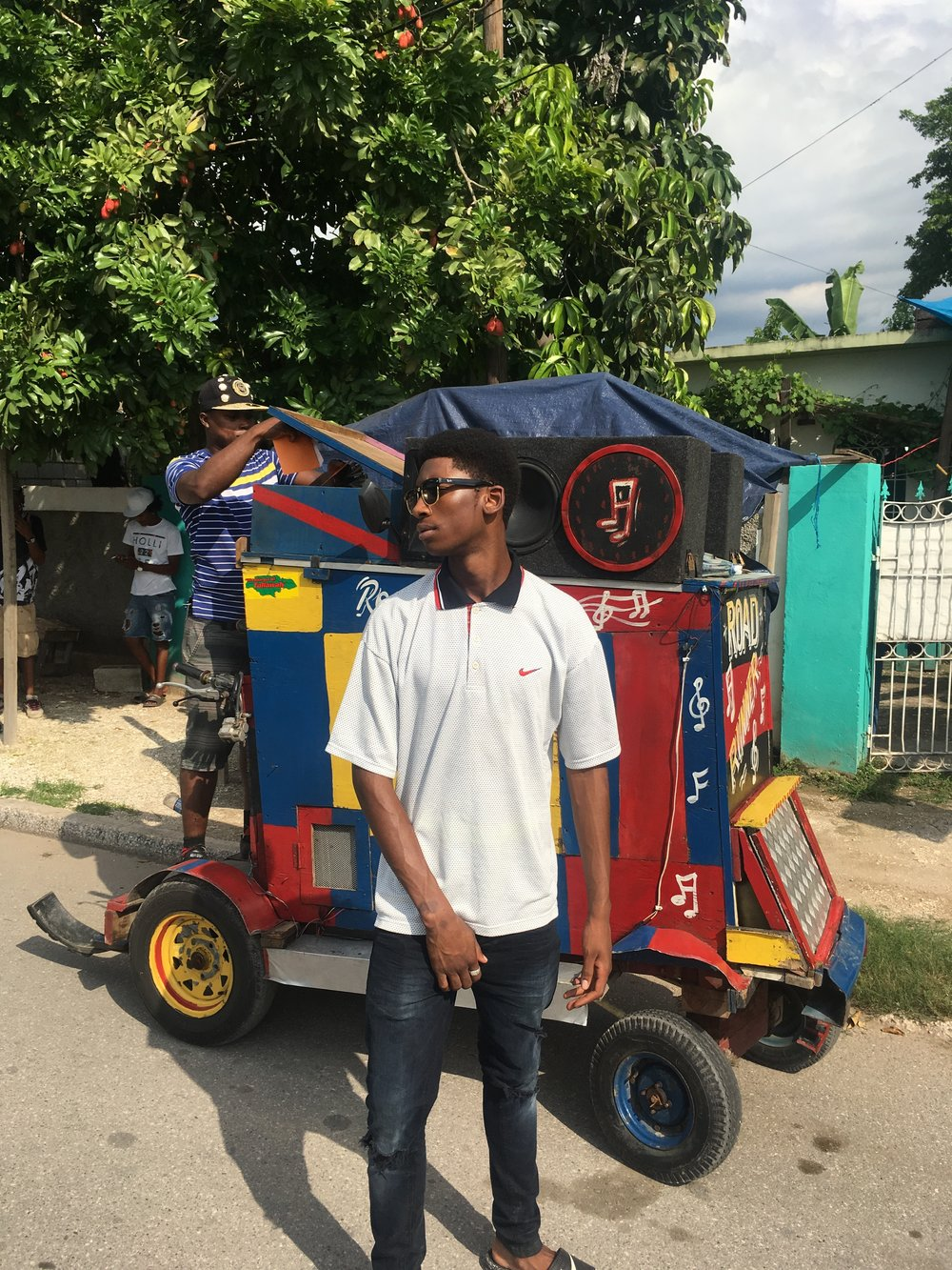 Blakie shooting 'Yard Man Vibe' video in Jamaica